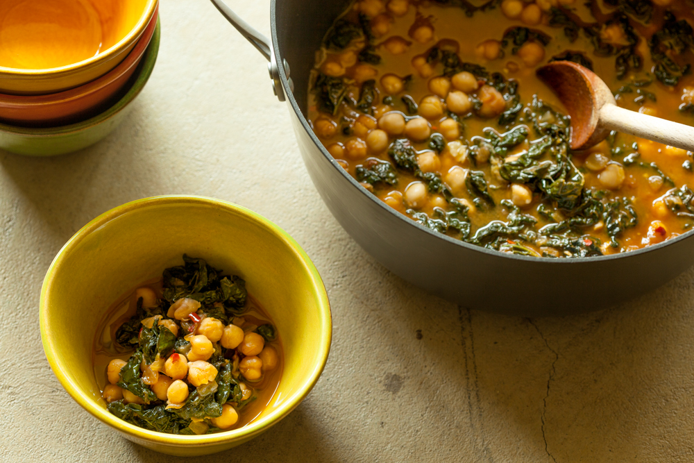 Kale and Chickpea Stew with Smoked Paprika