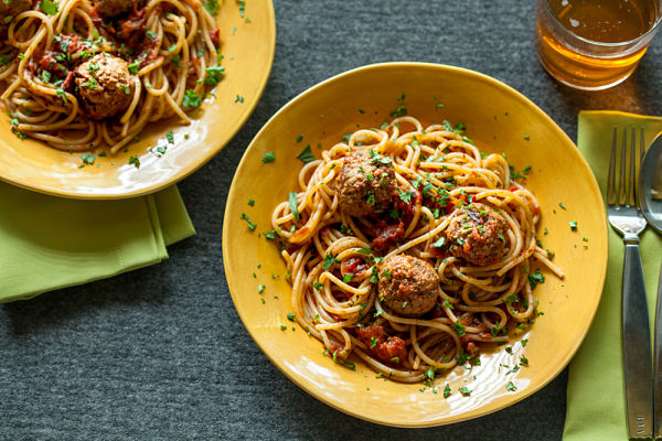 Moroccan-spiced Lamb Meatballs with Spaghetti