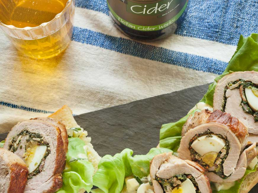 Pork and Spinach Picnic Roulade Sandwich