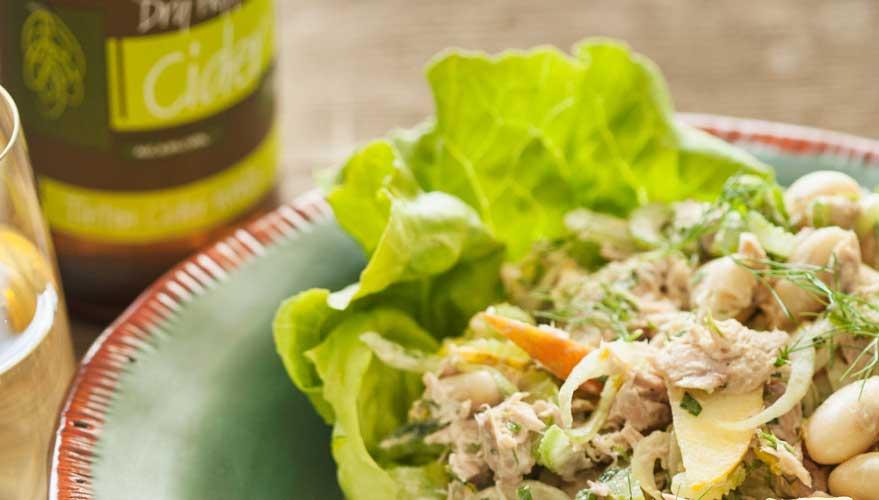 White Bean & Tuna Salad with Apple & Fennel