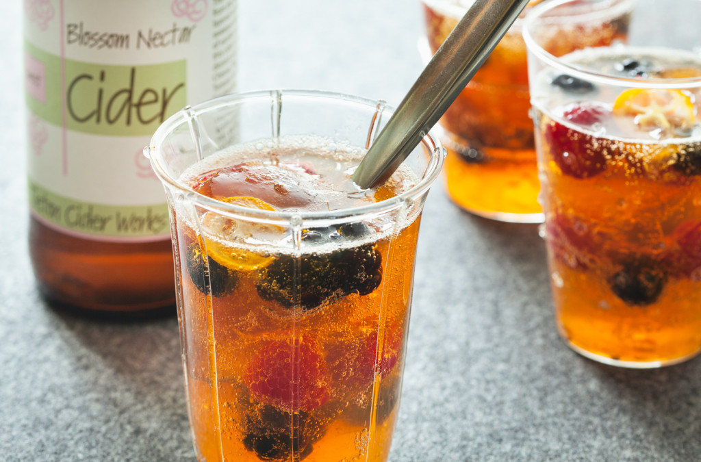 Broken Jellied Cider with Summer Fruit